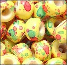 Marble Confetti Glass Crow Beads (30)