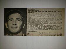 Sandy Koufax & Al Kaline 1966 Sport World Collector's Edition Player Panel