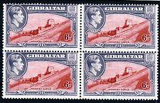GIBRALTAR King George VI 1938 6d. Carmine & Grey VARIETY Perf. 13½. SG 126 MNH