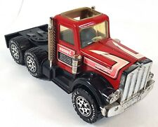 Buddy L Kenworth Tow Truck Diecast Vintage 1981 Red Black B003
