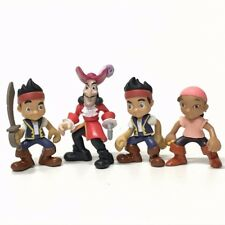 "Lof of 4PCS DISNEY JAKE AND THE NEVERLAND PIRATES 2.5"" TOY FIGURE CAKE TOPPERS"
