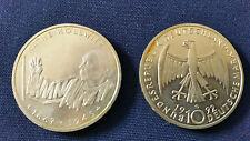 "10 DM Gedenkmünze ""Käthe Kollwitz"" von 1992 Silber Münze"