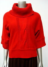 INC International Cpts Women's Turtleneck 3/4 Slv Sweater Deep Red XS