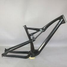 NEW 2021 All Mountain bike  Full Suspension carbon Frame MTB black gloss FM10