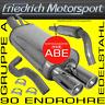EDELSTAHL KOMPLETTANLAGE Ford Escort Cabrio+Fließheck 1.3 1.4 1.6 1.8 2.0 RS2000