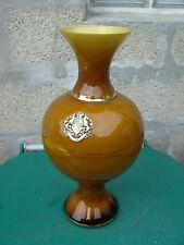 Ancien vase opaline savon blason bronze Providentiae Memor art nouveau napoleon