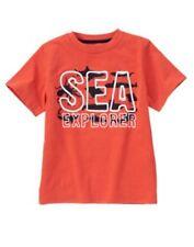 Gymboree NWT 3 3T GO NAUTICAL orange shirt tee SEA EXPLORER