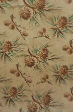 """VTG CHRISTMAS PINE CONE WINTER STORE WRAPPING PAPER GIFT WRAP 2 YARDS X 24"""""""