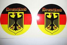 2x DEUTSCHLAND FLAG STICKER  MOTORBIKES- HELMETS -CARS -BUMPERS-GERMAN-VEHICLES