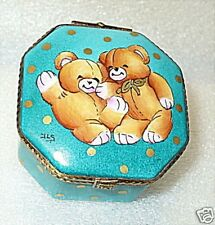 LIMOGES BOX ~ROCHARD STUDIO COLLECTION TEDDY BEARS ~HAND PAINTED~ LE 8/200 ~ MIB