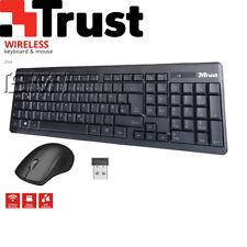 Trust Ziva PC Wireless Tastatur Maus Funk Kabellos Combo Set Deutsches Layout