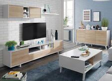 Conjunto salon comedor moderno mueble modular television mesa centro aparador