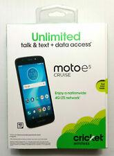 New & Sealed - Cricket Motorola Moto e5 Cruise 16GB/2GB RAM Prepaid Smart Phone