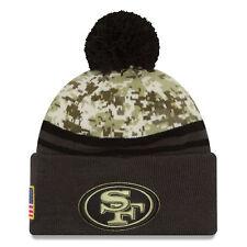 San Francisco 49ers New Era Salute To Service Sideline Pom Knit Hat - Camo/Graph