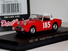 AUSTIN HEALEY SPRITE 1 MONTE CARLO RALLY 1959 DETAIL CARS ART 419 1/43