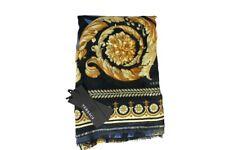 Versace Damen Schal Scarf Geschenkbox Made in Italy Outletware BO200 schwarz-bla