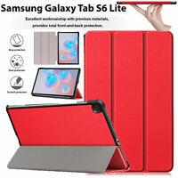 Étui Pour Galaxy Tab S6 Lite P610 Cuir Clapet Magnétique Support Livre Smart