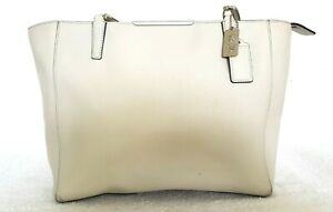 COACH Ladies Designer Large Taupe Leather Shoulder Bag GRT