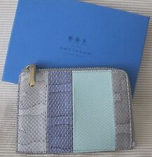 SMYTHSON of BOND STREET ~ LEXINGTON POUCH ~ Watersnake & LEATHER ~ $595 ~ ITALY
