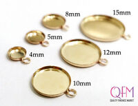 10pcs Gold Filled Round Bezel cup, Jewelry base, Bezel settings, different sizes