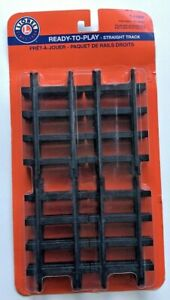 Lionel Ready-To-Play Straight Track Durable Plastic 12-Pack (7-11826) - NEW