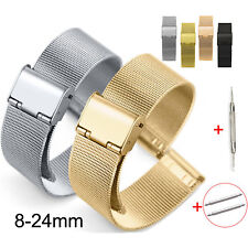 8 10 12 13 14 15 16 17 18 19 20 21 22 23 24mm Milanese Watch Strap Mesh Band Pin