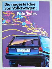 Prospekt Volkswagen VW Polo Sondermodell Twist, ca.1988, 4 Seiten
