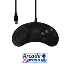 Mando Sega Mega Drive USB Genesis Retrolink Controller Pad Stick Negro PC