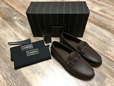 Ermenegildo Zegna Shoes Brown Leather Shoes Sz 6 US WIDE 39 EU 5UK Zegna WIDE