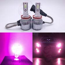 NEW 2x H8 H9 H11 H16 14000K Purple 8000LM CREE LED Headlight Bulbs Kit High Low
