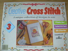 CREATIVE CROSS STITCH MAGAZINE No 3 BIRTHDAY HERBS ROSES BLUE BOUQUET WELCOME ++