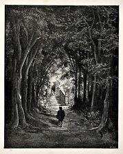 Impression vintage circa 1870 Fée ROYAUME illustré par GUSTAVE DORE