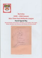 BARNSLEY 1939-1940 VERY RARE ORIGINAL HAND SIGNED BOOK PAGE 9 X SIGNATURES