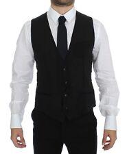 NWT $560 DOLCE & GABBANA Black Wool Formal Dress Vest Gilet Jacket IT50/ US40 /L