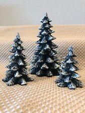 *Christmas* Department 56 Evergreen Trees 3-piece Set