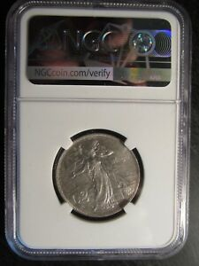 "1911R Italy Silver 2 Lire ""Kingdom Anniversary"" graded AU58 by NGC"
