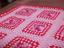 "GORGEOUS BRAND NEW HOMEMADE HAND CROCHET AFGHAN THROW BLANKET 40""x 40"""