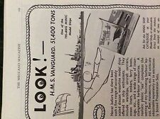 M6-9d ephemera 1950s advert triang ships hms vanguard minic model ships