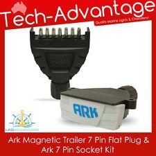 7 PIN FLAT MAGNETIC BOAT/CARAVAN/CAR/LANDCRUISER TRAILER PLUG & SOCKET KIT
