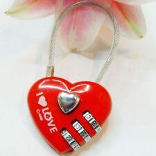 Luggage Padlock 3 Digits Heart Shaped Mini luggage locks Love Lock Code Gift