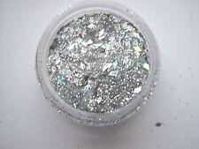 3g pot Nouveau Uñas Pre-mezclado Brillo Acrílico En Polvo-silver-diamonds