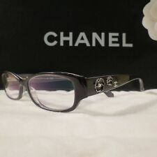 RARE NEW AUTHENTIC CHANEL BLACK CAMELLIA EYEGLASSES FRAMES #3198-H C1244 $729.00
