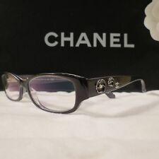 ed8492208c RARE Authentic CHANEL Black Camellia Eyeglasses Frames  3198-h C1244