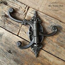 Vintage Style Triple Swivel Hook - Cast Iron Antique Grey