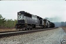 Norfolk Southern (NS) - SD60 - #6598 - Original 35mm Slide.