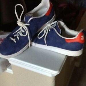 ADIDAS Stan Smith Indigo/Orange/White Tennis Shoes US Mens 13 # B24713