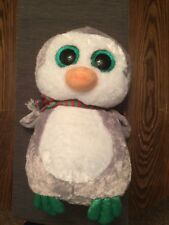 """NEW Ty 17"""" LARGE/JUMBO Beanie Boos  CHILLY Christmas Holiday Penguin Exclusive"""