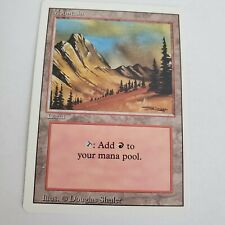 VTG MAGIC GATHERING CARD MTG Mountain (C) Revised Jades Collection Light Play