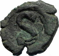 HERACLIUS Very RARE Alexandria OCCUPATION Ancient Byzantine 6 Nummi Coin i76954
