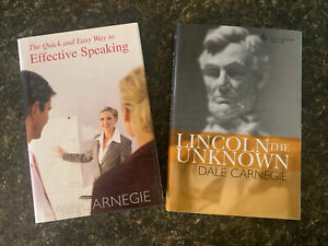 Dale Carnegie 2 Books Lincoln the Unknown & Quick & Easy Way Effective Speaking